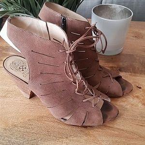 Vince Camuto open toed bootie heels